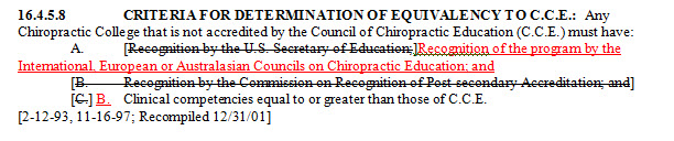 CCE Changes